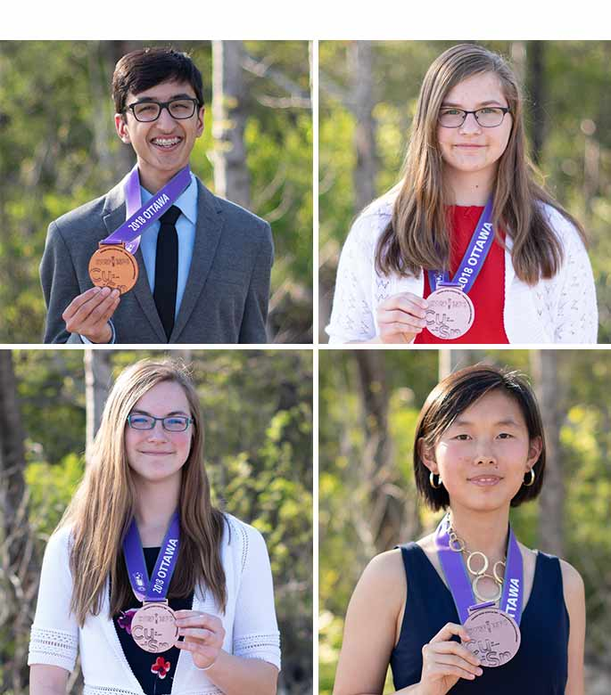 The following students from the Halton District School Board achieved Bronze medals at the Canada Wide Science and Engineering Fair
