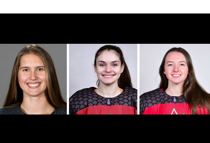 Three HDSB students earn gold medal on Canada's National Women's Under-18 Hockey Team
