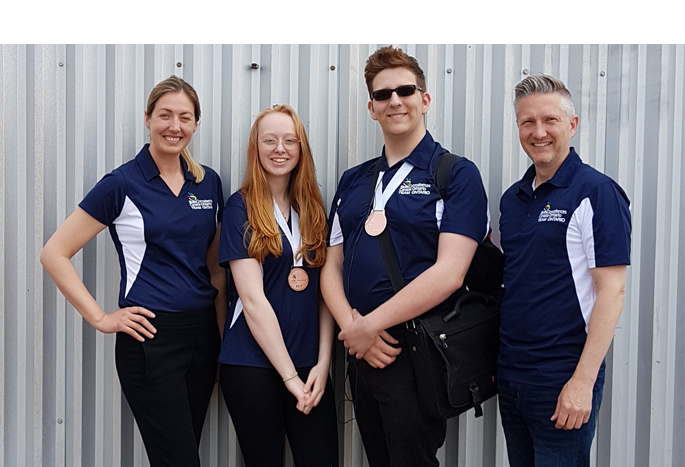 Mark Hutchison, a Grade 12 student at Acton High School and Emma Kilgannon, a Grade 11 student at Craig Kielburger SS won bronze medals in their skills competitions