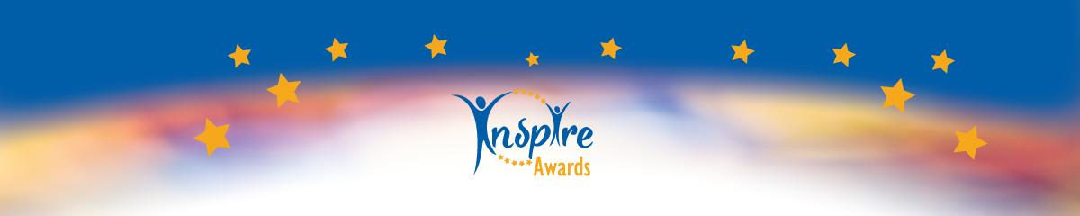 inspire award banner with logo