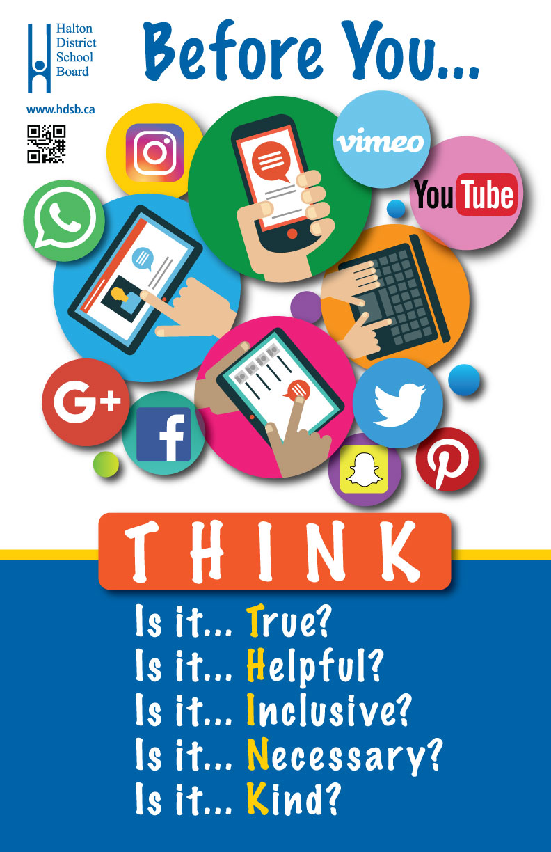 technology poster think parents resources