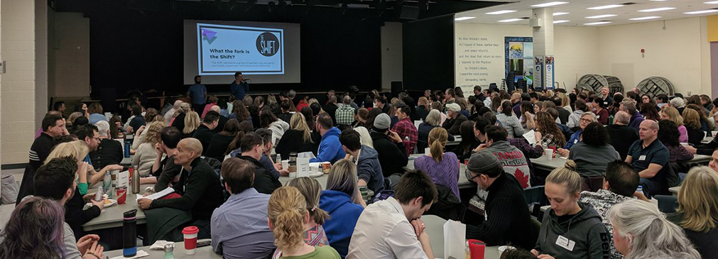 200 plus staff from Burlington Central, Nelson and Robert Bateman collaborated at the recent February 15, 2019 Professional Activity Day.